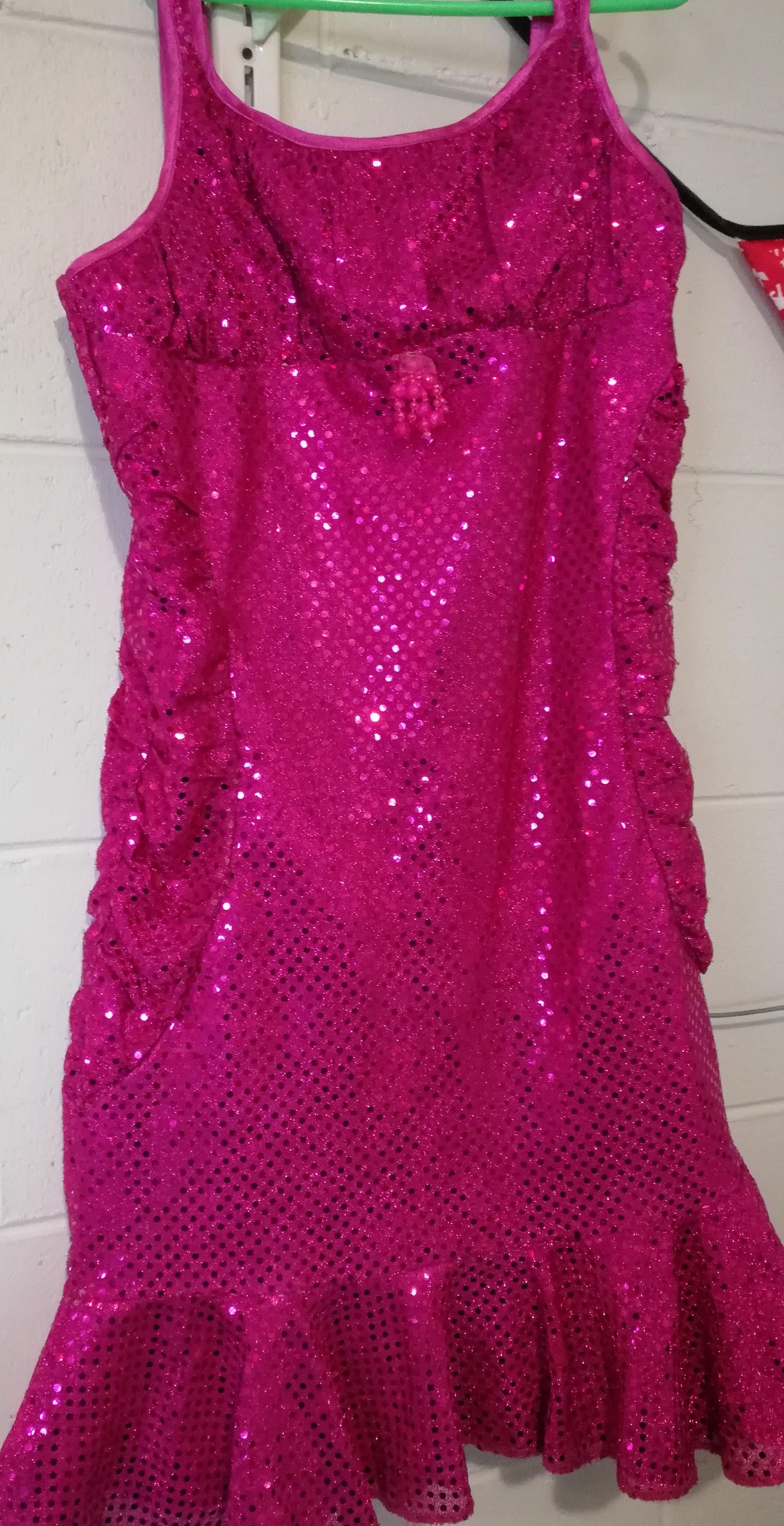 Glitter Pink Mermaid Dress