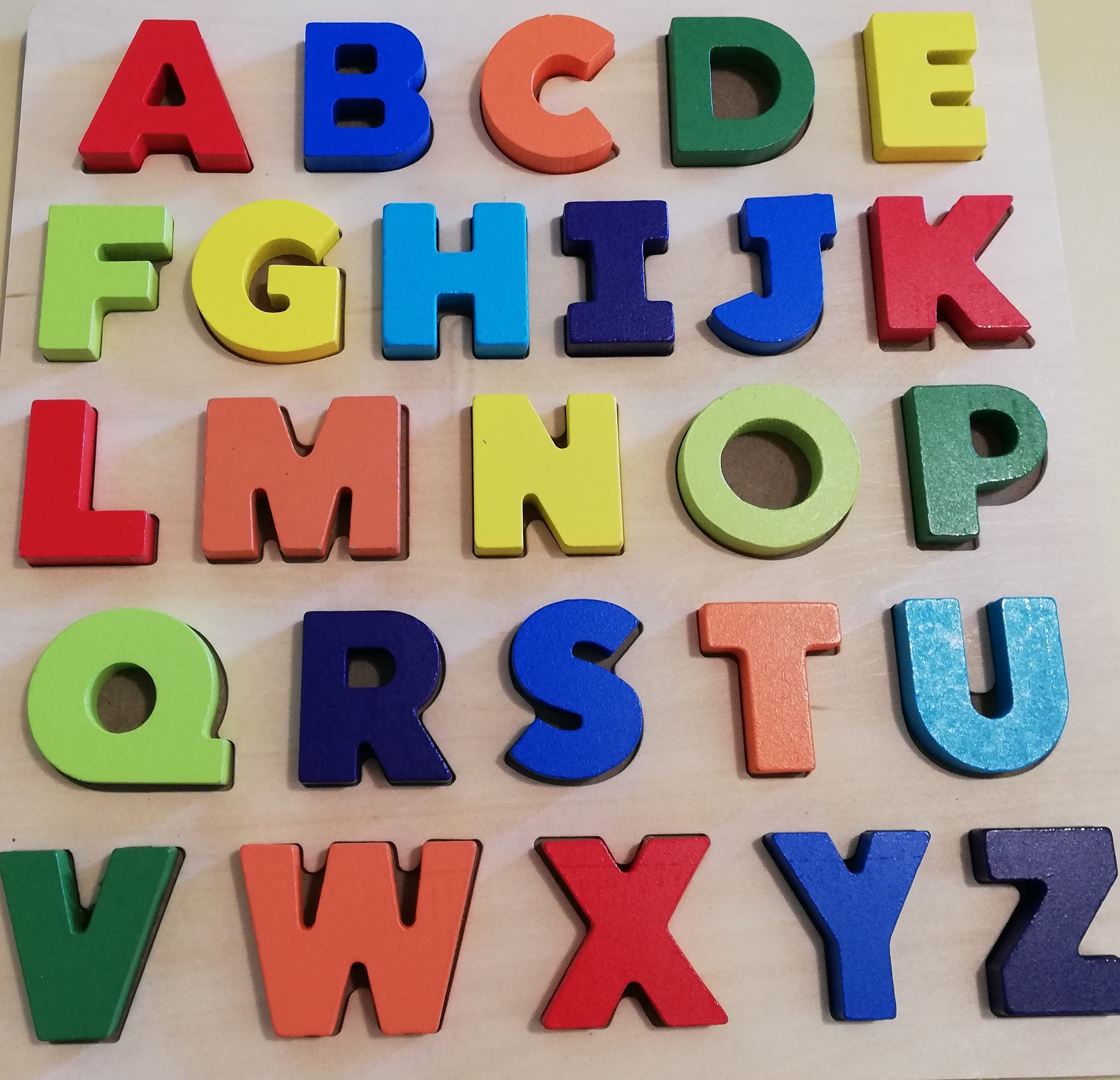 Wooden Chunky Alphabet Puzzle